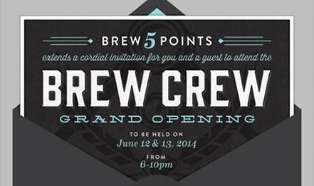 BREW Five Points Branding