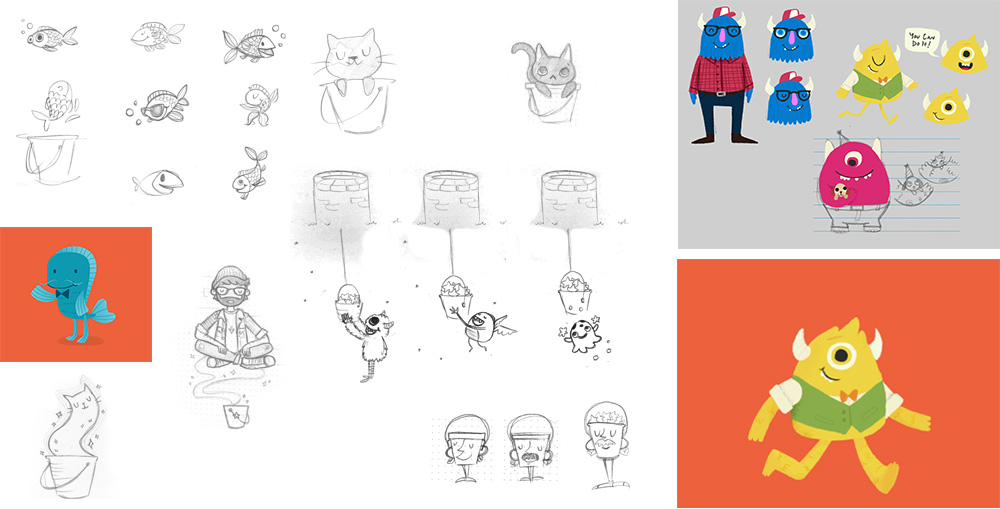 Character Design Application : Bucketwish social platform application s portfolio
