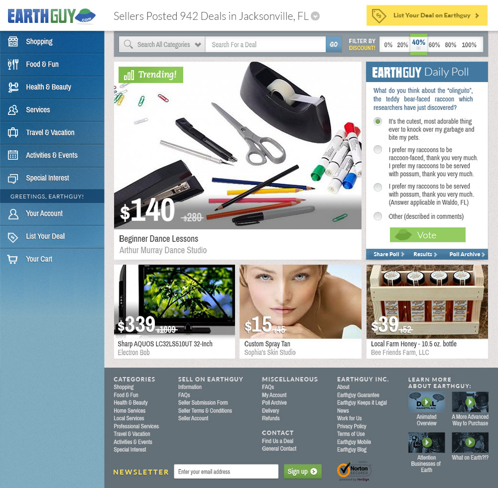 Earth Guy homepage