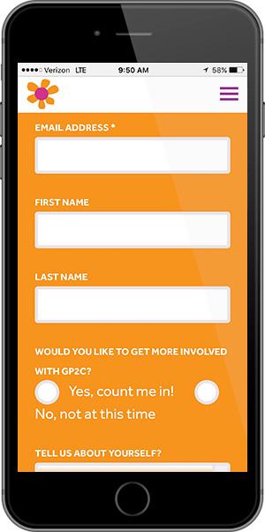 Mobile online form