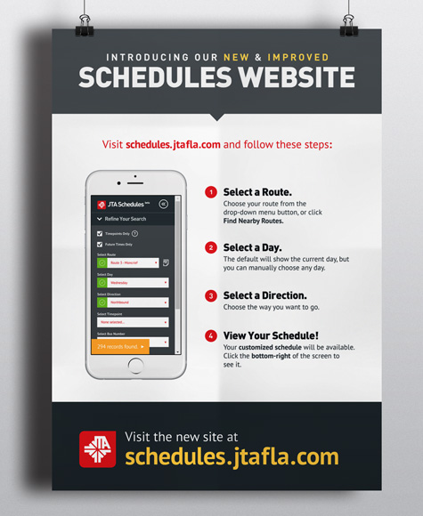 JTA Schedules Route Selector