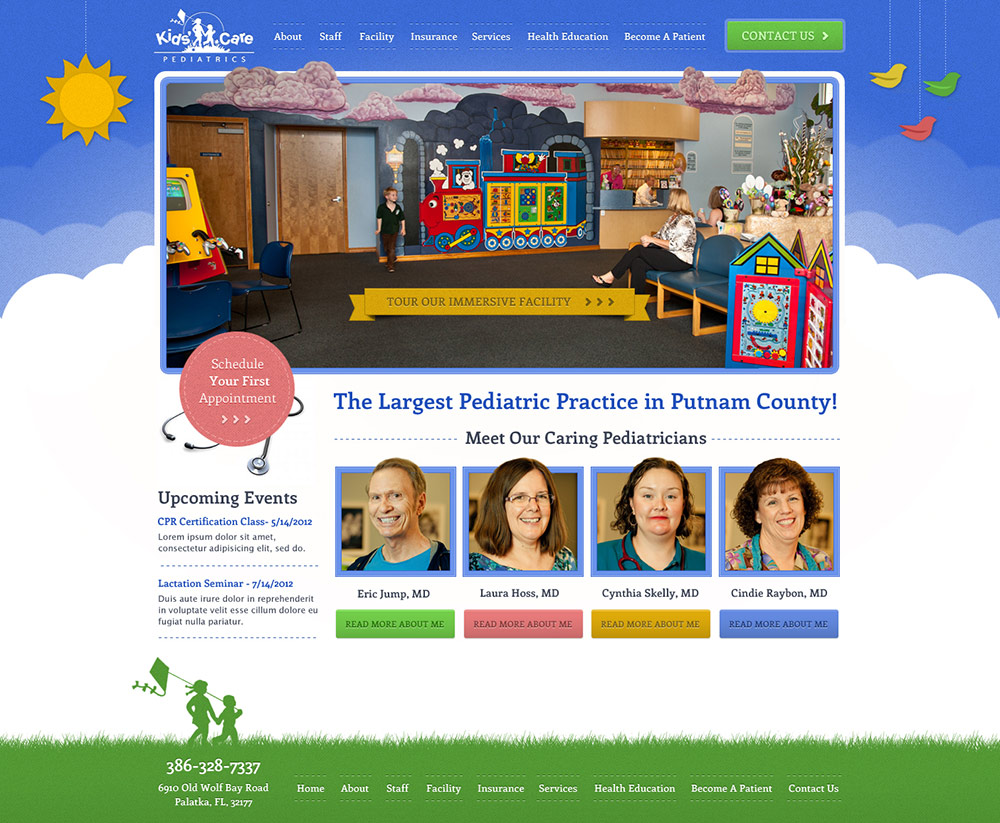 How to design a website for kids - Kids Care Came To Station Four Needing A Website That Would Act As A Full Service Resource For Their Patients We Are Currently Creating A Dynamic Site