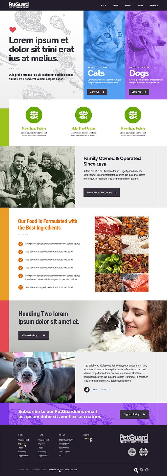 PetGuard home page