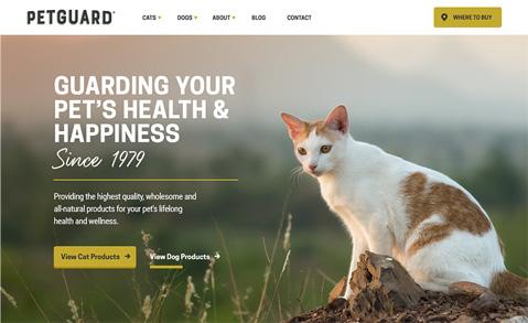 New Petguard homepage