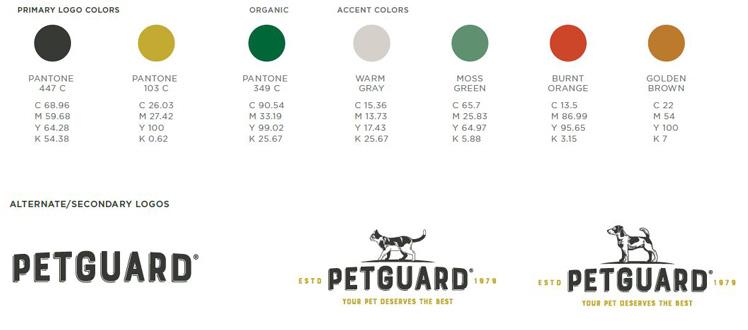 Petguard pallete and logos