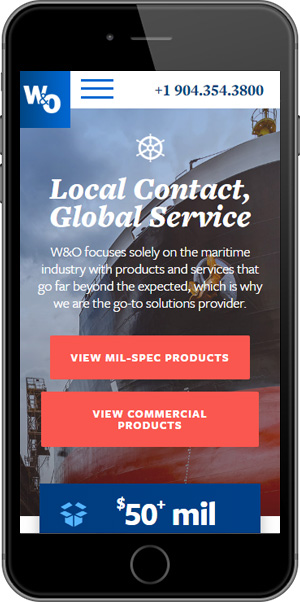 W&O Supply Mobile Products Page