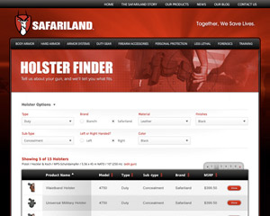 Holster Finder: ASP.NET Application Development